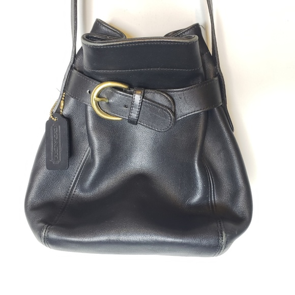 Coach Handbags - Vintage Coach Black Leather Crossbody Bag